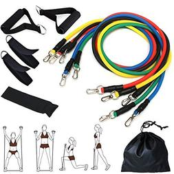 Resistance Band Set for Gym Fitness, CUXUS Exercise Bands, f