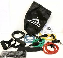 Black Mountain Resistance Band Set  with Door Anchor Ankle S