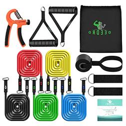 Deedro Resistance Band Set 14 Pieces with Exercise Tube Band
