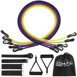 HOMIEE Resistance Band Set, Workout Exercise Set Including E