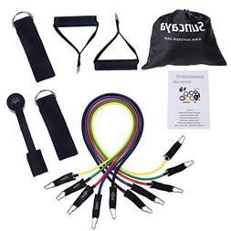 Suncaya Resistance Band Set - with 5 Stackable Exercise Band