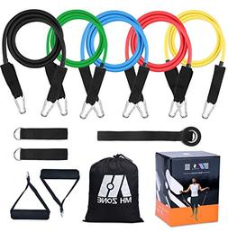 MH Zone Resistance Band Set 11 pc Resistance Band Set with 5
