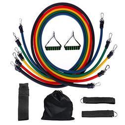 crayfomo Resistance Bands 5 Tube Set with Handles, Door Anch