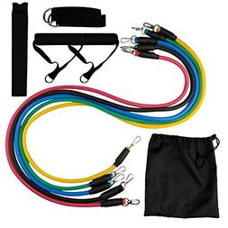 A-SZCXTOP Resistance Band Set Home Workout -5 Tube Exercise