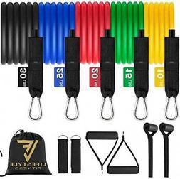 Lifestyle Fitness Resistance Band Set Premium 11pc Portable
