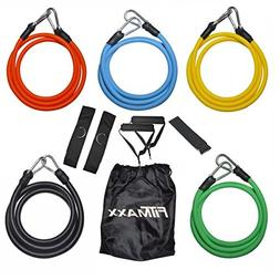 Fitmaxx 11 Pcs Resistance Band Set Stackable with Cushioned