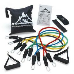Resistance Band Set with Door Anchor Ankle Strap Exercise Ch