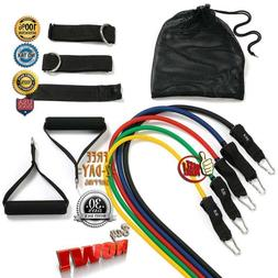 Resistance Band Set Workout Bands 11pc with Door Anchor Hand