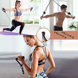 Resistance Band Set Yoga Pilates Abs Exercise Fitness Tube W
