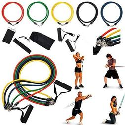 Resistance Band Set Yoga Pilates Abs Exercise Fitness Tube W