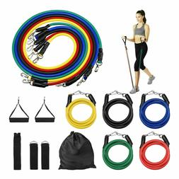 Resistance Band Sets Yoga Pilates Abs Exercise Fitness Tube