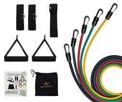 Wacces Resistance Band Set Door Anchor, Ankle Strap, Exercis