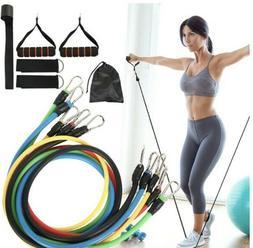 Resistance Bands,11PCS set, USA, Yoga Pilates Abs Exercise F