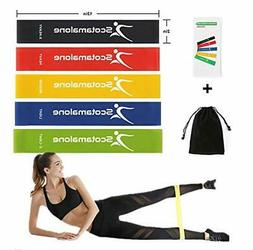 Resistance Bands 5 Set Exercise Band Loop With Bag Legs Work