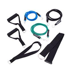 SportCord Resistance Band Workout Set – 7-Piece Bungee Cor