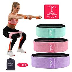 COOBONS Resistance Bands for Legs and Butt,Exercise Bands Hi