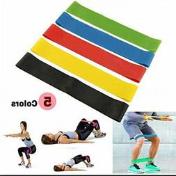 Resistance Bands Exercise Loop Mini Bands Set of 5 Fitness C