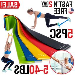 Resistance Bands Exercise Set Fitness Workout Stretch Elasti