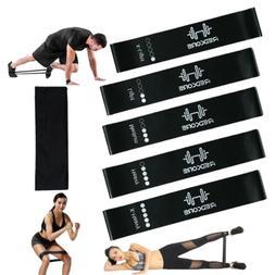Resistance Bands Loop Men Set of 5 Exercise Workout Stretch