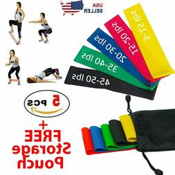 Resistance Bands Loop Set Gym Exercise Yoga Strength Workout