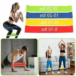 Resistance Bands Loop Set Of 4 Exercise Workout CrossFit Fit