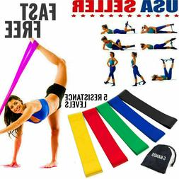 resistance bands loop set of 5 exercise