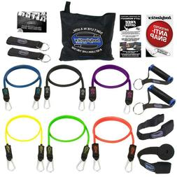 Resistance Bands Set BODYLASTICS 14 PCS Patented Anti-Snap N