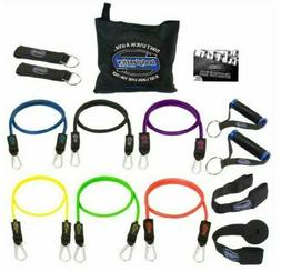 Resistance Bands Set BODYLASTICS 14 PCS Patented Anti-Snap w