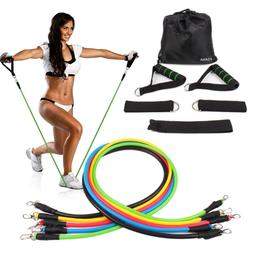 KSANA Resistance Bands 11pc Set With Handles Door Anchor Ank