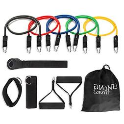 Limeng Resistance Bands Set, Workout Bands 100 LBS 11 PCS In
