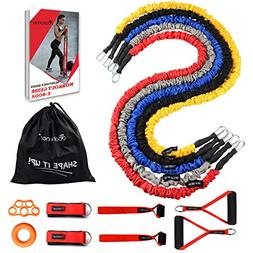 Coolrunner Resistance Bands Set, 14 PCS Workout Bands, 20lbs