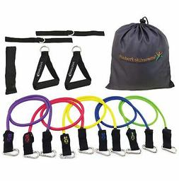 Resistance Bands Set for Legs and Butt - 5 Heavy Duty Exerci