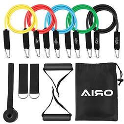 ORIA Resistance Bands Set, Exercise Loop Bands, 5 Exercise B