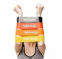 SPORTBIT Resistance Bands Set with Bag & e-Book for Exercise
