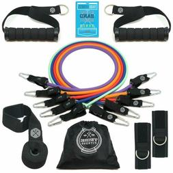 Tribe Resistance Bands Set Exercise Bands with Stackable Wor