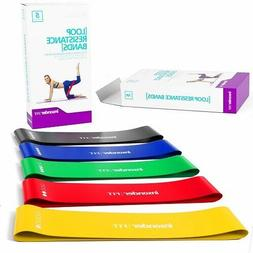 Resistance Bands Set Exercise Yoga Workout Gym Fitness Cross