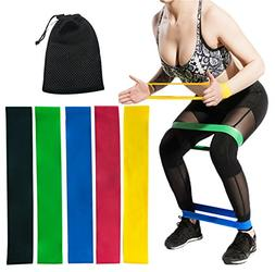 CHEERGO Resistance Bands Set Resistance Loops - Set of 5 Exe