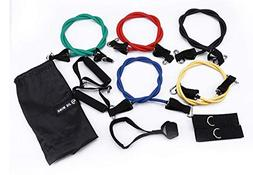 Jieming 11PC Premium Resistance Bands Set, Workout Bands - D
