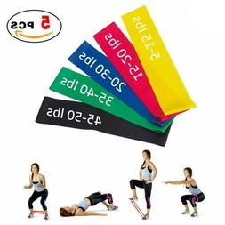 Resistance Bands Set of 5 Exercise Elastic Loop Band for Yog