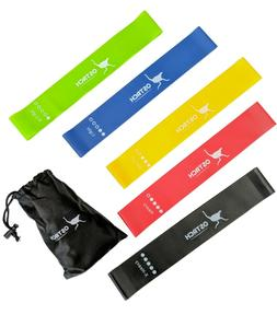 Ostrch Resistance Bands - Set of 5 Latex Loop Exercise Bands