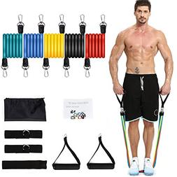 NICEAO Resistance Bands Set, Exercise Band Handles Ankle Str