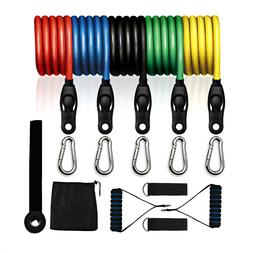 resistance bands set with 5 fitness tubes
