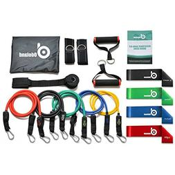 Odoland 16 pcs Resistance Bands Set Workout Bands, Heavy Exe