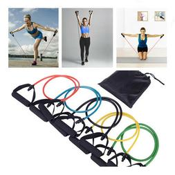 Resistance Bands Sets Yoga Pilates Abs Exercise Fitness Work