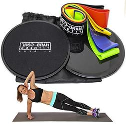Resistance Bands and Sliders for Fitness. Exercise Equipment