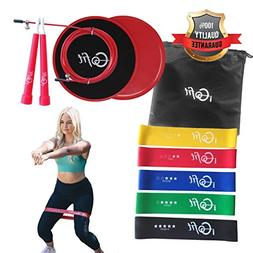 resistance bands sliders exercise equipment