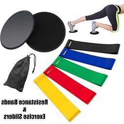 Rantizon Resistance Bands and Sliders Gliding Discs Core Sli