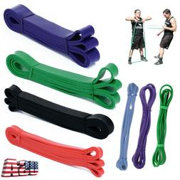 Resistance Bands Strength Weight Elastic Trainers Fitness Te