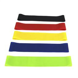 Resistance Bands Stretch 5 Band Workout Exercise Yoga Pilate