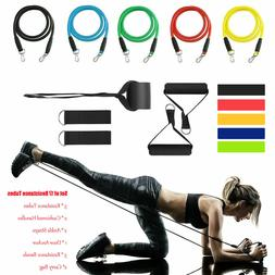 Resistance Bands Tubes Set Trainers Exercise For Fitness Wor